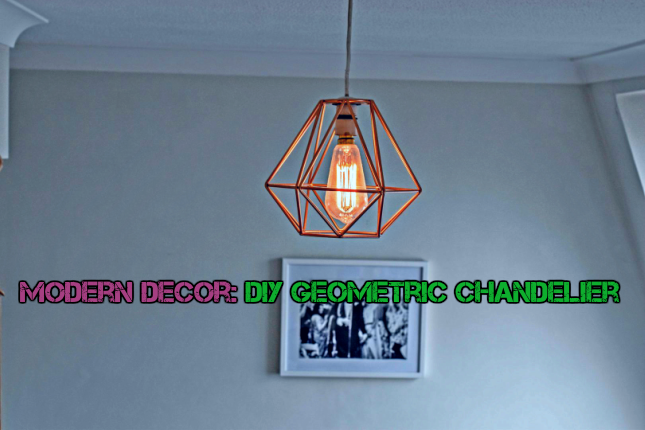 Modern Decor: DIY Geometric Chandelier
