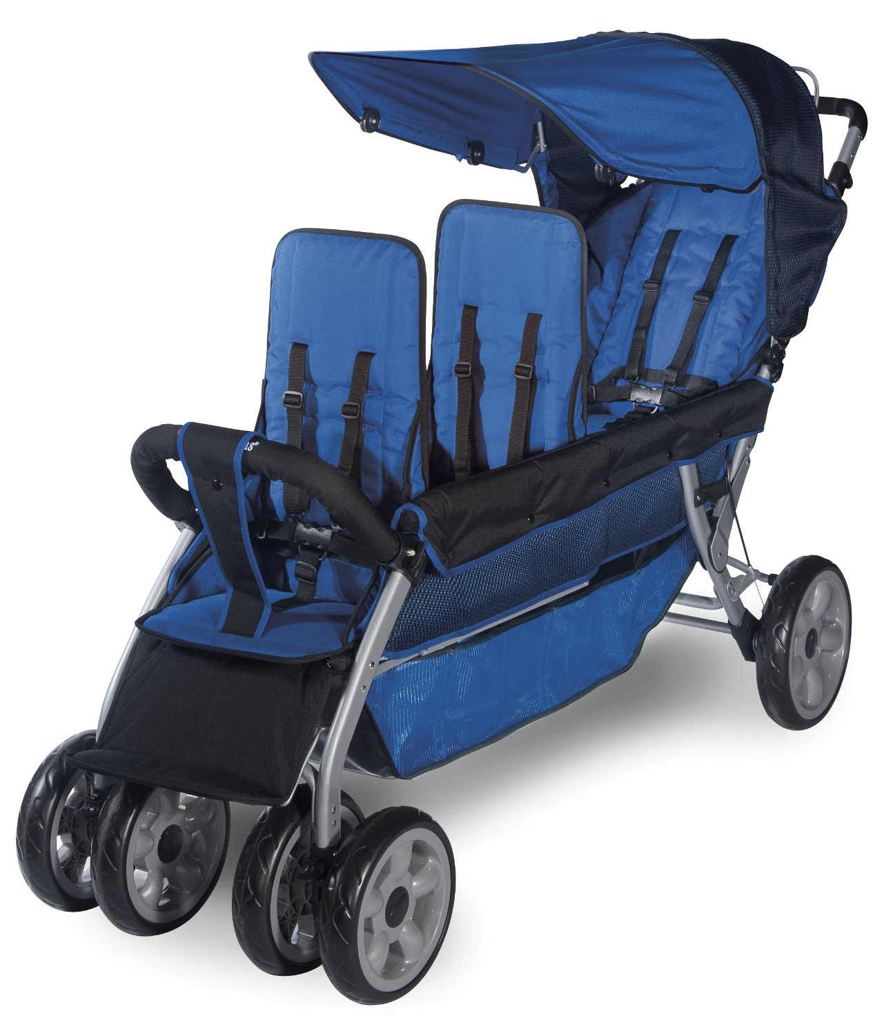 Foundations Worldwide Foundations Regette Blue 3 Passenger Stroller