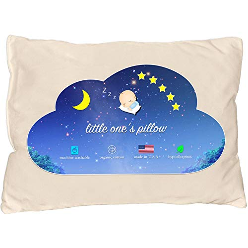 Little One's Pillow Toddler Pillow with Delicate Organic Cotton Shell