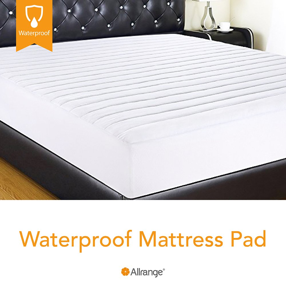 Allrange Hypoallergenic Quilted Fitted Waterproof Mattress Pad