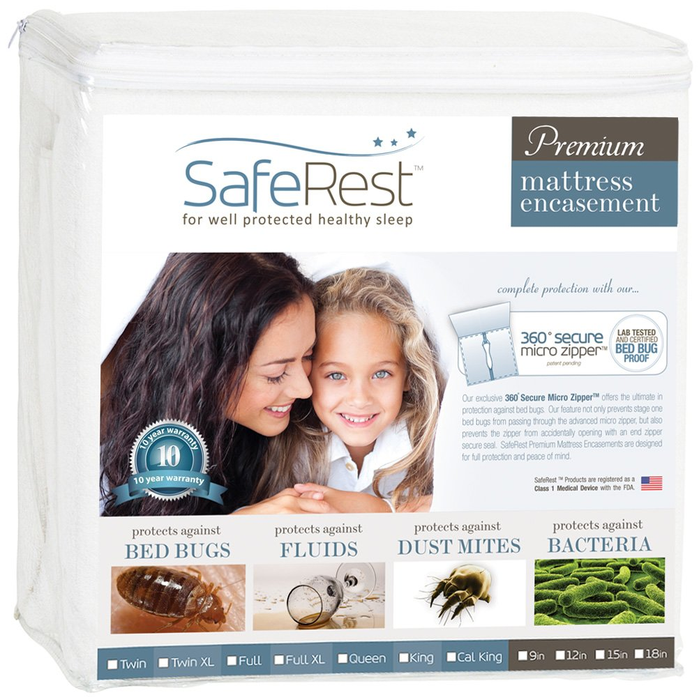 SafeRest Premium Zippered Mattress Encasement